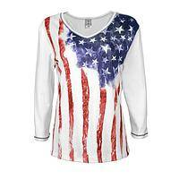 Faded Colors - 100% Cotton Patriotic Baby Rib Top