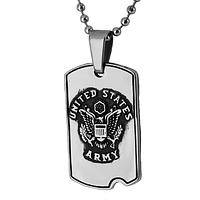U.S. Army Dog Tag Prayer Medal - St. Michael Protect Us Army Dog Tag Necklace