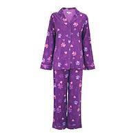 Paw Print Lullaby - Purple Paw Print Pajamas in Lightweight Cotton