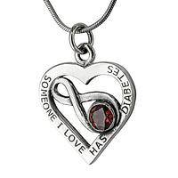 Near to Your Heart - Diabetes Awareness Sterling Heart Necklace