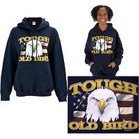 Proud Bird - Bald Eagle And American Flag Hooded Sweatshirt