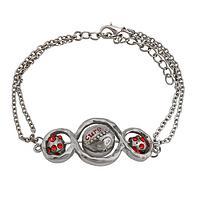 Into Infinity - Rhinestone-Sparkled Triple Infinity Knot Diabetes Bracelet