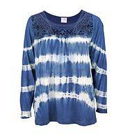 Bohemian and Lace - Tie-Dyed and Lacework Tunic Shirt