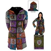 Warmly Individual  - Earth Tones Patchwork Handmade Stonewashed Coat