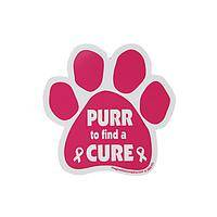 Purr for a Cure - Magnetic Vinyl Breast Cancer Awareness Decal