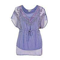Lavender Romance - Ethereal and Embellished Chiffon Tunic
