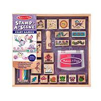 A Child's Fantasy Land - Stamp-a-Scene Fairy Garden Arts & Crafts Activity Set