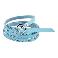 Seek and Find - Matthew 7:7 Wrap Bracelet