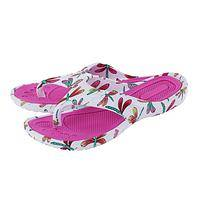 Casual Pink Flip Flops - Fashionable Pink Dragonfly Style Flip Flops For Anywhere