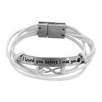 Infinity and Beyond Bracelet - Faux suede Silvery I Loved You Before I Met You Strands