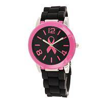 Moments in Pink - Pink Ribbon Water-Resistant Silicone Watch