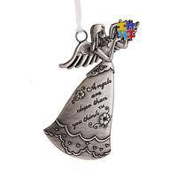 Angel of Support - Gleaming Zinc and Resin Autism Awareness Angel Ornament