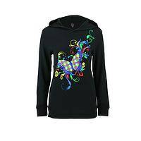 My Puzzle Butterfly Hoodie - Lightweight Thermal Hoodie with Autism Awareness Butterfly