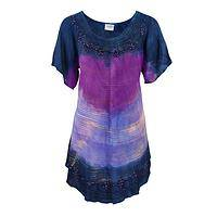 Twilight Goddess - Handmade Rayon Tunic in Ethereal Shades of Dusk