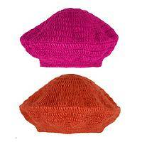 Winter Brights - Crocheted Himalayan Fair Trade Beret Hat