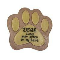 Glowing Paw Print Garden Stone - Dogs Leave Prints Resin Garden Stone - Glows in the Dark