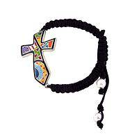 Best Friends Forever - A Multicolored Designer Cross and Friendship Bracelet