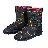 Lightning Walking Boots - Fab Rainbow and Black Colored Boots Like The Northern Lights