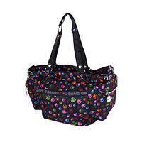 Paws Galore - Convertible Paw Print Shoulder/Messenger Bag with Strap