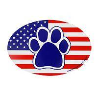 Patriotic Paws - American Patriotic Paw Print Car Magnet