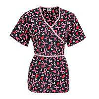 Fun & Delight - Expressive Hearts & Ribbons Scrub Top