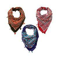 Tribal Tassels - Handwoven Cotton Colorful Tribal India Charity Kerchief