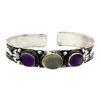 Mystic Moments  - Amethyst & Moonstone Bracelet Fairly Traded from Nepal
