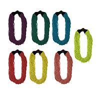 Cascade of Color - Handmade Glass Beaded Torsade Necklace