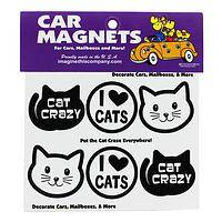 Cat Crazy and Proud of It - Cat Lovers' Mini Car Magnets (Set of 6)