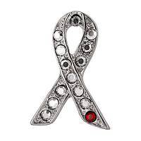 Crystalline Splash  - Diabetes Awareness Exclusively Designed Crystal Pin