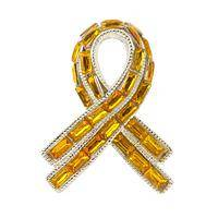 Dazzled by Hope  - Yellow Ribbon Remember our Troops Pin