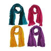 Splash of Color - Dip Dyed Bright 100% Cotton Crinkle Handmade Scarf