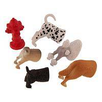 Attractive Tails - Playful Set of 6 Dog Butt Magnets