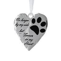 Forever in My Heart - Animal Rescue Metal & Enamel Heart Holiday Pet Ornament