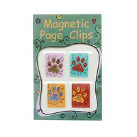 The Dog-Eared Page - Mark Your Place With Paw Print Magnetic Book Clips