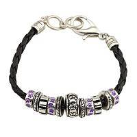A Walk Together - Paw Print Carousel Beads Braided Charm Bracelet