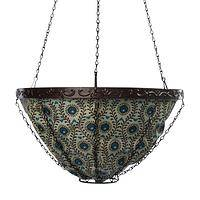 Paws for Peacock Splendor - Animal Rescue Hanging Garden Basket