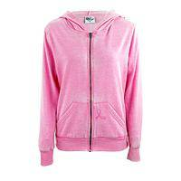 Cozy and Courageous - Pink Ribbon Breast Cancer Support Hooded Cotton Sweatshirt
