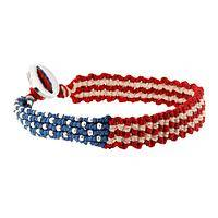 Stand Tall, Wear Proud - American-Themed Woven Patriotic Flag Bracelet