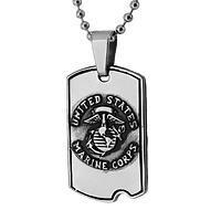 St. Michael Protect Us - U.S. Marines Prayer Dog Tag Necklace