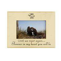 Forever Remembered - Beautiful Memorial Photo Frame for Pet