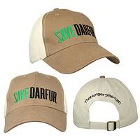 Save Darfur from Hunger - Darfur Coalition Fundraising Embroidered Baseball Cap