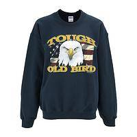 Tough Old Bird - Eagle and Flag Cotton/Poly Crew Neck Military Sweatshirt