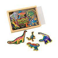 Jurassic Fun - Wooden Dinosaur Magnet Set for Kids (20 Pieces with Box)
