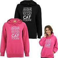 Only Speaking To My Cat Hooded Sweatshirt