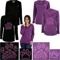 Purple Paw Swirl Lightweight Hooded Tunic