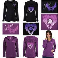 Wings of an Angel Purple Paw Hooded Lightweight Tunic