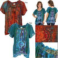 Passage to India Beaded Neckline Tunic