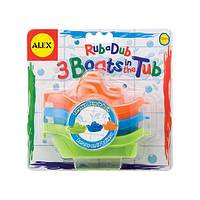 Rub a Dub 3 Boats in the Tub - Alex Toys Bathtime Tubby Fun