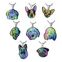 Dichroic Glass Dog Breed Necklace